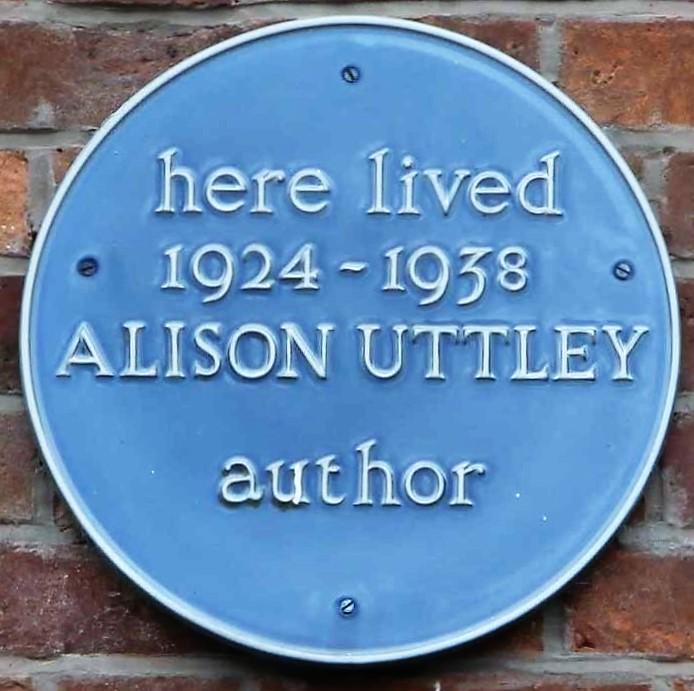 Alison Uttley (1884-1938) Blue Plaque