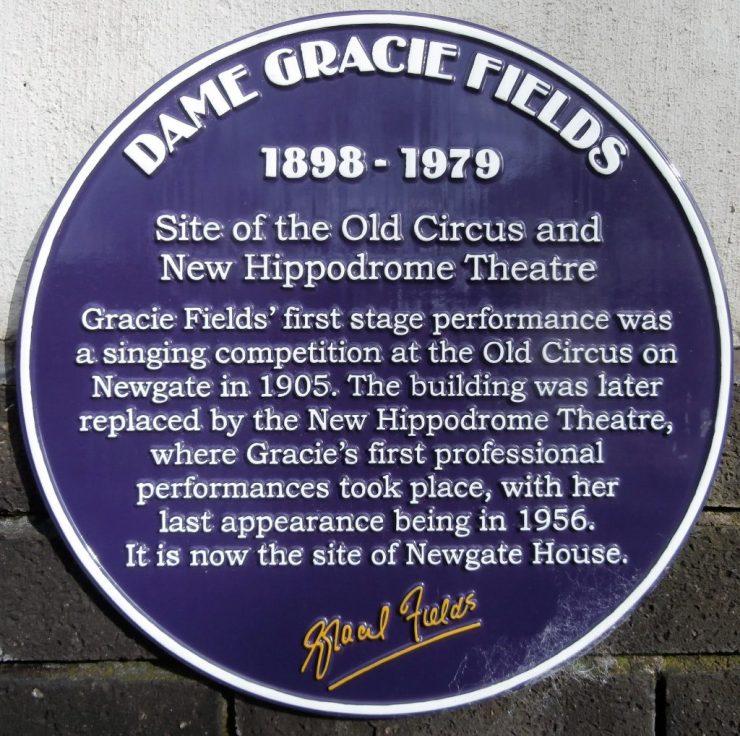 Gracie Fields (1898-1979) Purple Plaque
