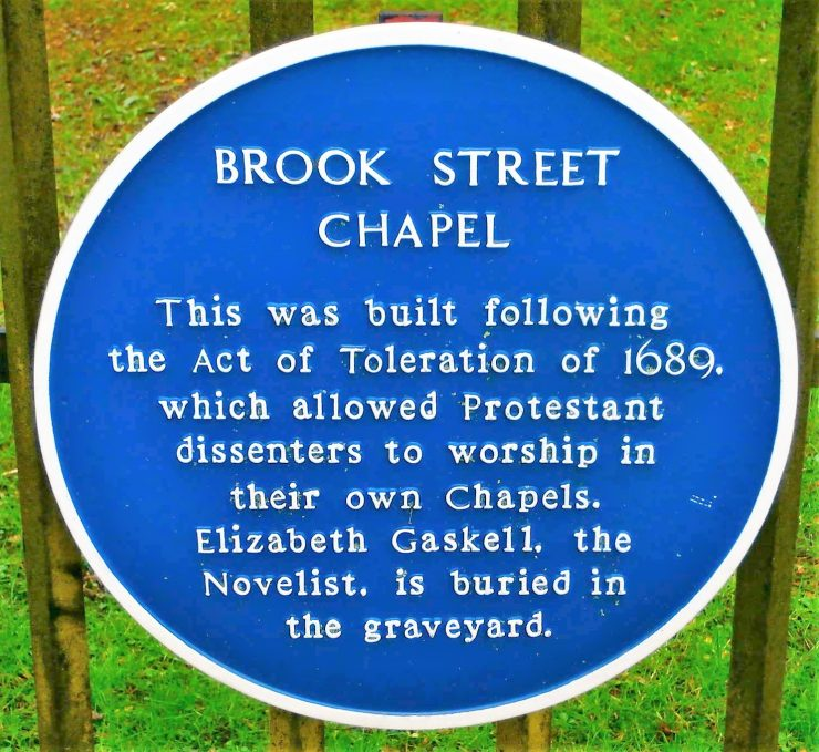 Brook Street Chapel Blue Plaque