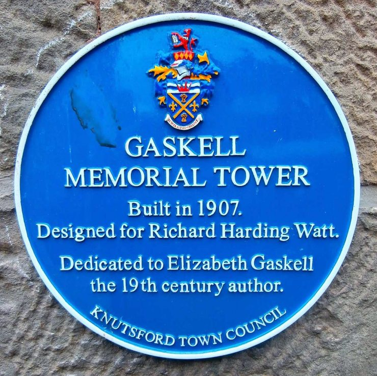 Gaskell Memorial Tower Blue Plaque