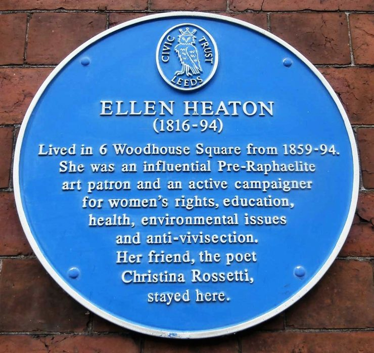 Ellen Heaton (1816-1894)  Blue Plaque