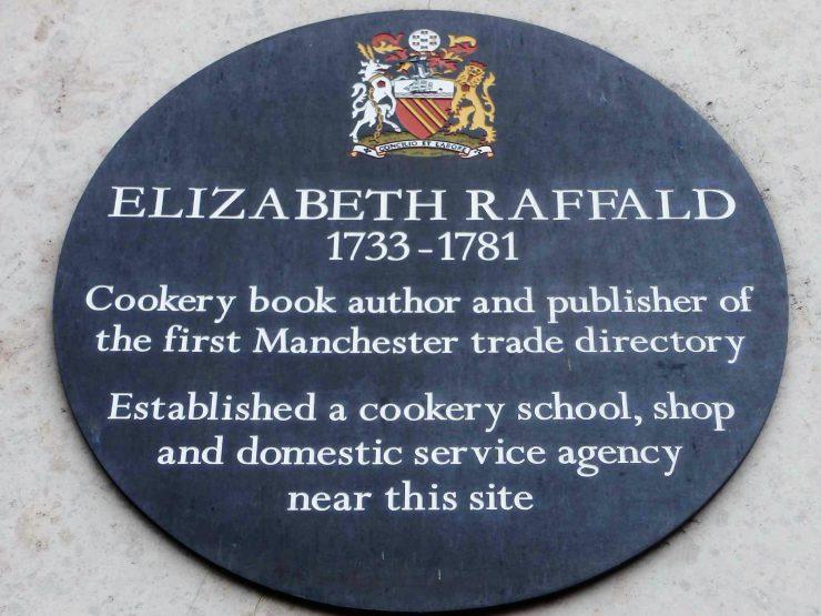 Elizabeth Raffald (1733-1781) Blue Plaque