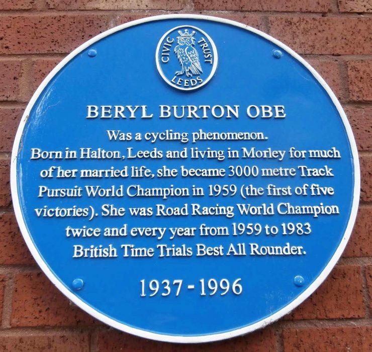 Beryl Burton OBE (1937 -1996) Blue Plaque